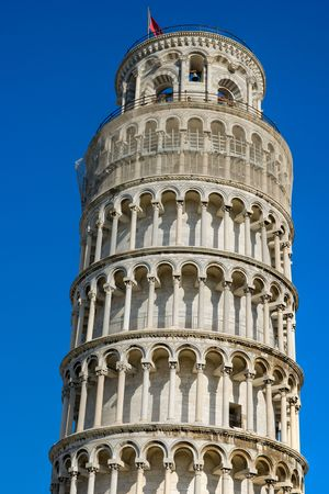 Pisa, Piazza dei miracoli, with the Basilica and the leaning tower. Tuscany, Italy. photo