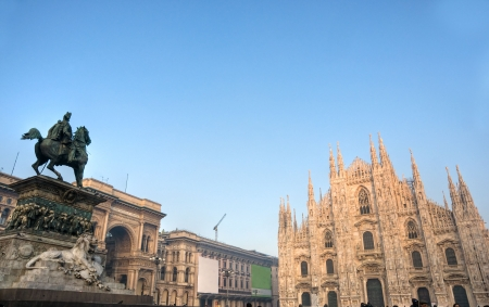 Vittorio Emanuele gallery and Duomo in Milan, Italy