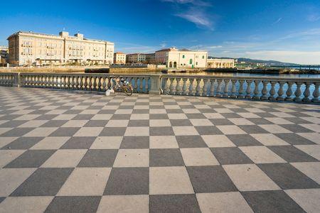 View of Livorno from Terrazza Mascagni. Tuscany, Italy.