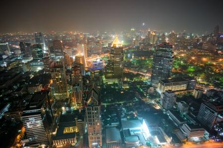 technoligy: Wide angle Night view of Bangkok, Thailand