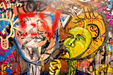 Graffiti en un edificio abandonado Berlín