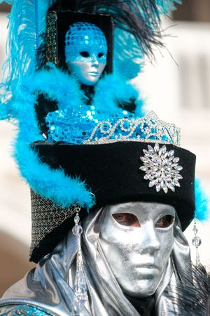VENICE - MARCH 05  Participant in The Carnival of Venice, an annual festival that starts around two weeks before Ash Wednesday and ends on Mardi Gras on March 05 2011 in Venice, Italy