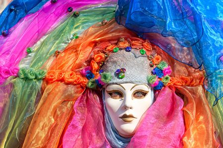 conceal: Carnival mask in Venice, Italy.