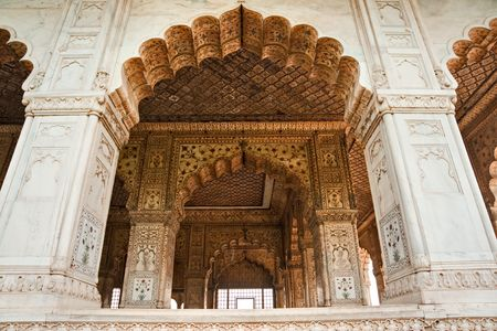 Hall of audience (Diwan-i-Khas), Red Fort, Old Delhi, India.  photo