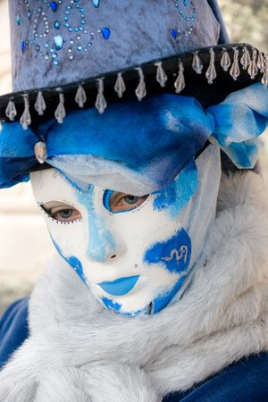 Portrait of a Beautiful mask in Venice, Italy. photo