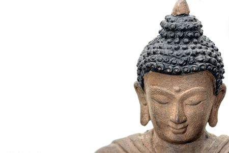 Close-up picture of a Buddha Face in Bronze, from Nepal. Stock Photo - 6222681