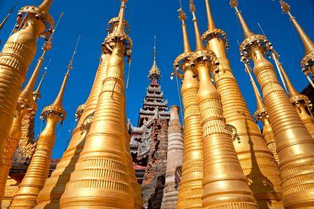 stupas: Stupas in Indein, Inle Lake, Myanmar.
