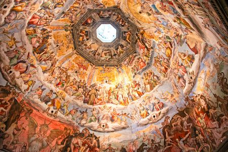 Painting inside the Brunelleschi cupola of Florence Duomo. Stock Photo - 6222807
