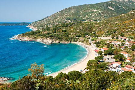Cavoli strand, eiland Elba. Toscane, Italië. Stockfoto - 6222809