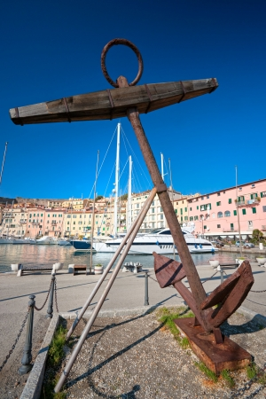 View of Portoferraio old city, with the Forte Stella and the Napoleon Villa  Isle of Elba, Livorno, Italy  Stock Photo - 17325151
