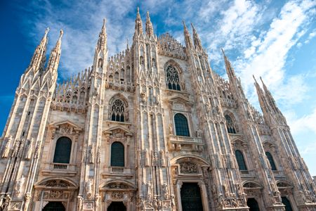 Vittorio Emanuele gallery and Duomo in Milan, Italy photo
