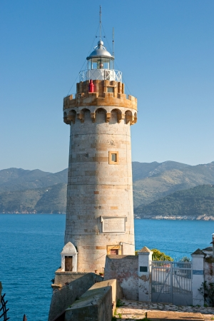 View of Portoferraio old city, with the Forte Stella lighthouse  Isle of Elba  photo