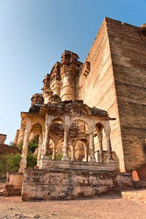 the Mehrangarh fort. Jodhpur, the blue city, Rajasthan photo