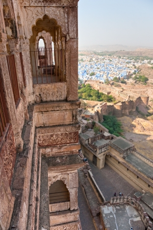 View of Jodhpur, the blue city  From the Mehrangarh fort  photo