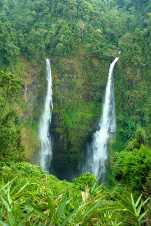 waterfall in bolaven hill, Laos.  photo