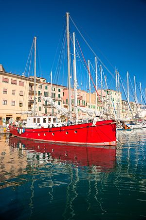 View of Portoferraio Harbour, Isle of Elba, Livorno, Italy. photo