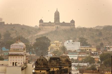 nandi: Palace in Orcha, Madhya Pradesh, India