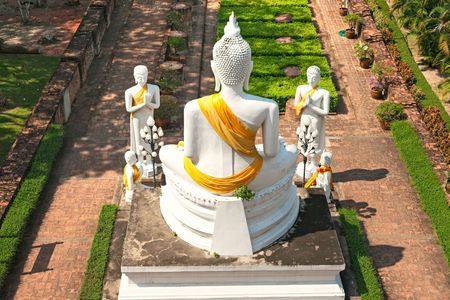 ayuthaya: Ruined Old Temple of Ayuthaya, Thailand,