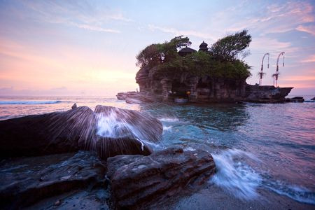 lot: The Tanah Lot Temple, the most important indu temple of Bali, Indonesia.