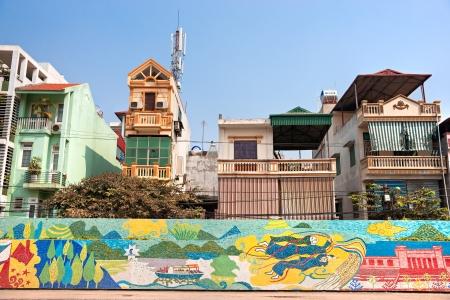 Typical residential buildings in Hanoi, Vietnam