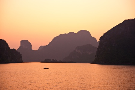 heritage site: Halong Bay, Vietnam. Unesco World Heritage Site. Most popular place in Vietnam. Stock Photo