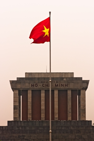 mausoleum: Ho Chi Minh Mausoleum at sunset, Hanoi, Vietnam  Editorial