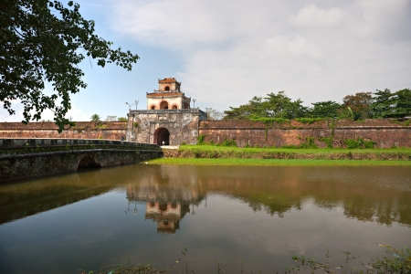 middle east fighting: Entrance of Citadel, Hue, Vietnam  Unesco World Heritage Site