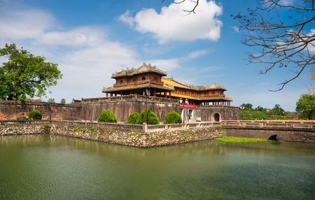 middle east war: Entrance of Citadel, Hue, Vietnam.