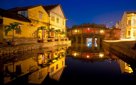 ponte giapponese: Ponte giapponese in Hoi An Vietnam, Unesco World Heritage Site
