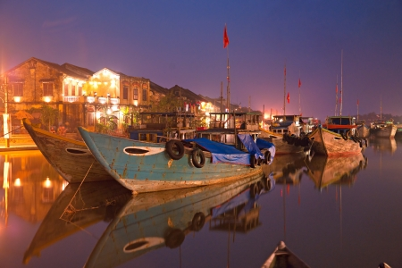 Night shot of Hoi An  Vietnam  Unesco World Heritage Site   photo