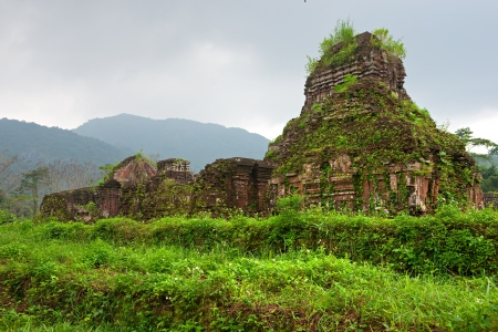cultural history: Ancient Hindu temples in My Son near Hoi An  Vietnam  Unesco World Heritage Site   Stock Photo
