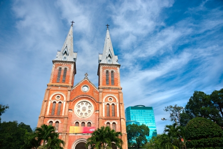 Notre Dame cathedral in Ho Chi Minh City, Vietnam  Editorial