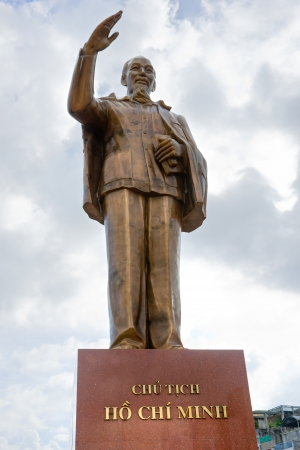 can tho: Ho Chi Minh Statue in Can Tho, Mekong Delta, Vietnam