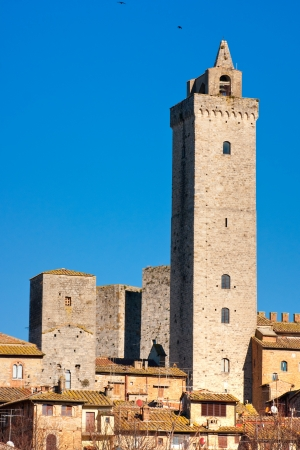 View of san gimignano Towers, Tuscany, Italy Stock Photo - 17646884