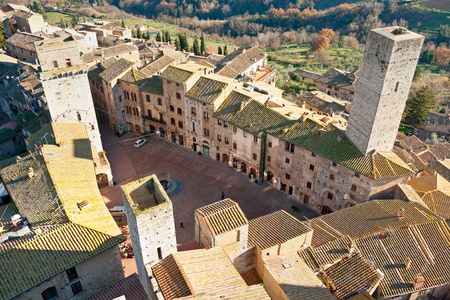 View of san gimignano, Siena, Tuscany, Italy. photo