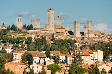siena italy: View of san gimignano, Siena, Tuscany, Italy. Stock Photo
