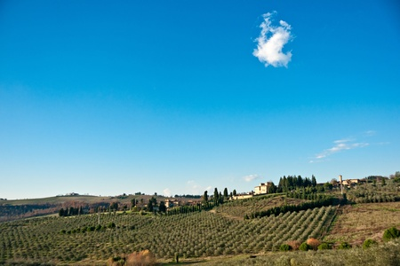 Tuscany landscape, Chianti area, Italy. Stock Photo - 8570127