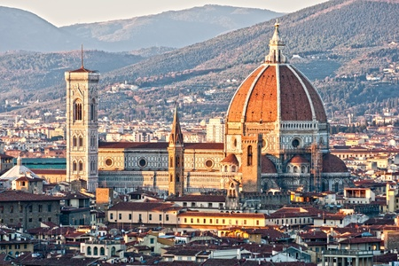 cath�drale: Vue panoramique de Florence de la coupole du Duomo. R�gion de Toscane en Italie.