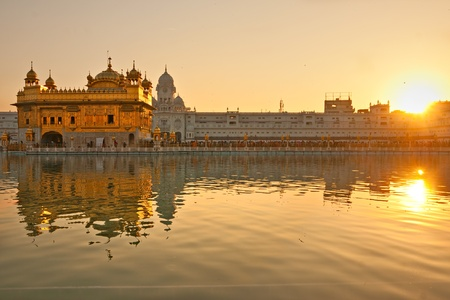 amritsar: Details of Golden Temple in Amritsar, Punjab, India. Stock Photo