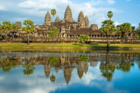 prayer tower: Angkor Wat Temple, Siem reap, Cambodia. Stock Photo