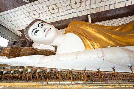 Shwethalyaung Buddha, Bago, myanmar. Stock Photo - 8631213