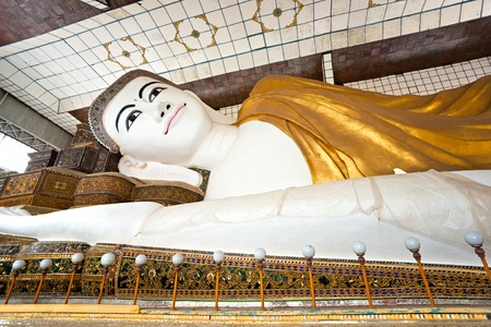 Shwethalyaung Buddha, Bago, myanmar. Stock Photo - 8631213