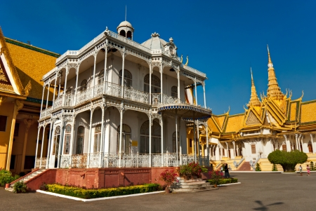 allegory painting: Grand Palace, Pnom Penh, Cambodia  Editorial