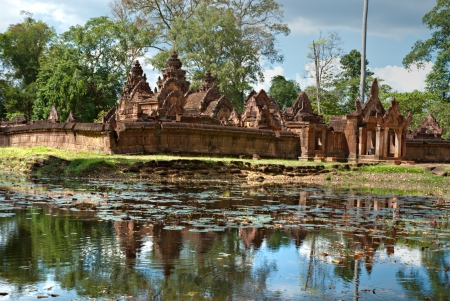 bayon: Banteay srei, The temple of woman, in pink sandstone Angkor, Cambodia