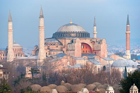 hagia: Hagia Sophia mosque in sultanahmet, Istanbul, Turkey. Stock Photo