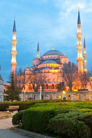 blue mosque: The Blue Mosque, (Sultanahmet Camii), Istanbul, Turkey. Stock Photo