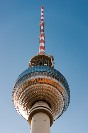 The Fernsehturm in Alexander Platz  Berlin, Germany