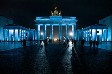 east berlin: BRANDENBURG GATE,  Berlin, Germany. Stock Photo