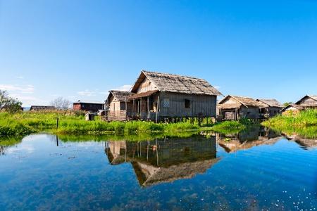 inle: Rural House in inle lake, Myanmar.