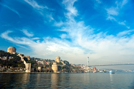 turkey istanbul: The beautiful View of Rumeli Fortress, Istanbul, Turkey.